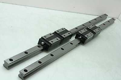 4 New ERSK HR30 Square Blocks on 920mm Linear Guide Rails 730mm Travel