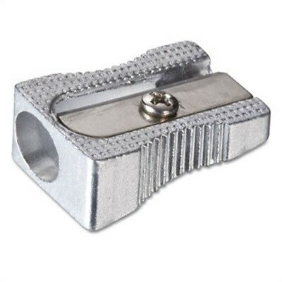 Metal Pencil Sharpener, Metallic Silver