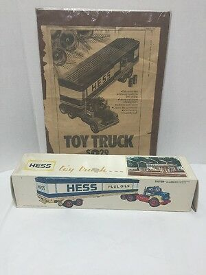 1976 Hess Truck Box and Newspaper Advertisement Daily News Box ONLY Vintage