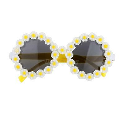 Round Sunglasses Glasses Fancy Dress Party Daisy Flower Spectacles Eyewear