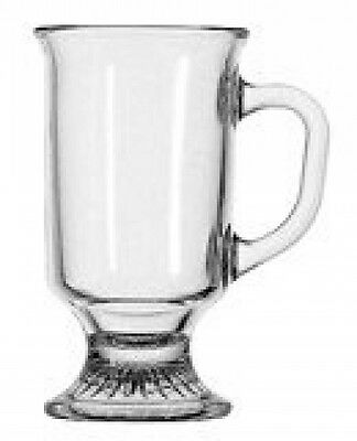 Anchor Hocking 69738 Glass Irish Coffee Mugs Cup - Tea Cups Coffee Mocha Mugs (4