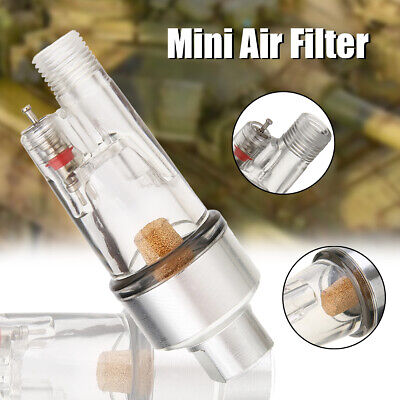 "Mini 1/8"" Airbrush Separator Filter Air Water Trap Moisture Fittings Hose Paint"