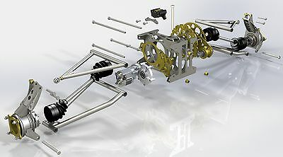 S1 Rear suspension plans, bike powered mini dune buggy, sandrail on CD disc.