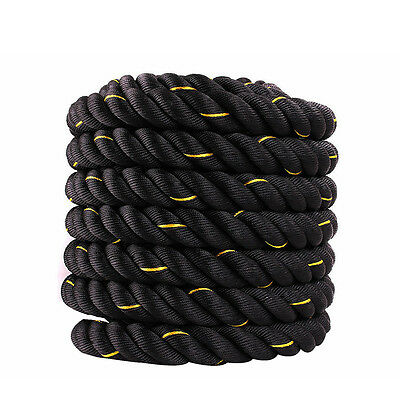 50mm Battle Power Rope Sport Exercise Cord Fitness Bootcamp Gym Workout Rope 12M