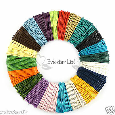 1 mm WAXED COTTON CORD Jewellery Making Thread (CWC)