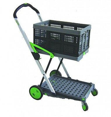 Clax Cart Folding Trolley - One Basket Included