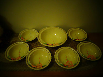 collectable 7 peice dessert setting made in myott ,son& co made in england