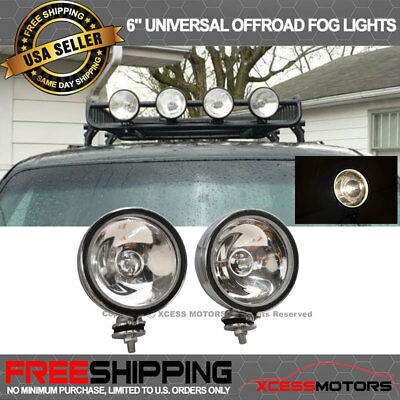 Special Price Limited Time Offer 6 Inch 4x4 Clear Off Road Fog Light 55W Pair