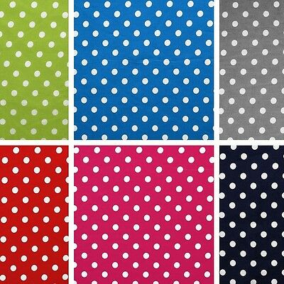 Big dots - woven fabric + a nice dot-print 100% cotton, 6 colours, by the metre