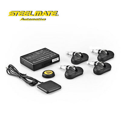 STEELMATE TPMS Wireless Tire Pressure Monitoring System + Sensors Car DVD Player