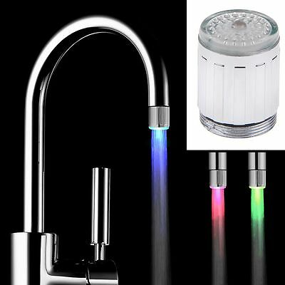 Water Temperature Control 3Color Changing Sink Faucet LED Light Tap Glow Shower