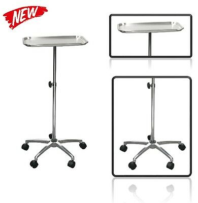 Adjustable Dental Instrument Tray Medical Rolling Cart Lab Hospital Clinic Salon