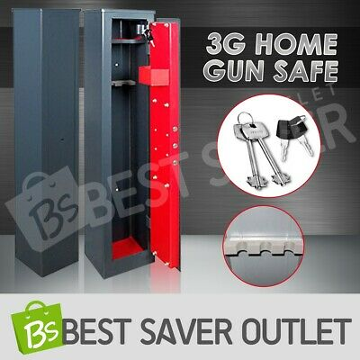 Gun Safe Storage Firearm Lock Box Lockbox Steel Heavy Duty Cabinet Bonus 3 Rifle