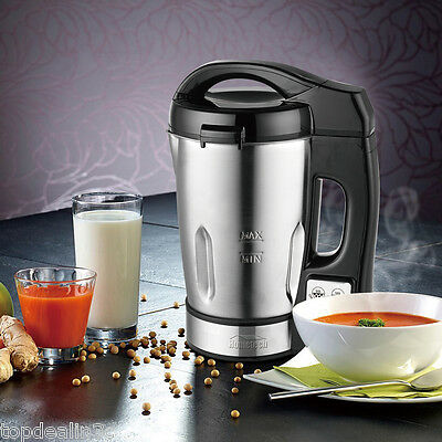 5-in-1 800W Electric Jug Stainless Steel Quick Soup Maker Machine Blender 1.6L