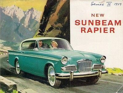 Sunbeam Rapier Series III 1959-61 UK Market Smaller Format Sales Brochure