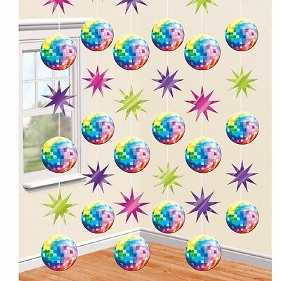 Disco Fever Lets Boogie 6 Strings Of Hanging Decorations 70S Themed Party