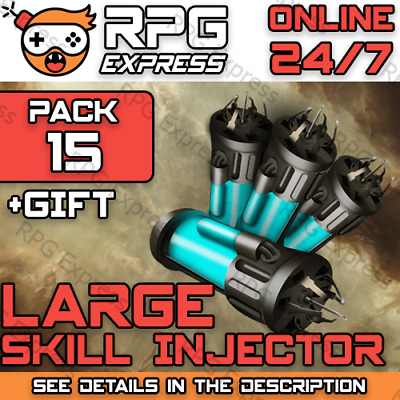 EVE Online LARGE Skill Injector x15  FAST+SAFE+Gift+Discount  PLEX / ISK   24/7