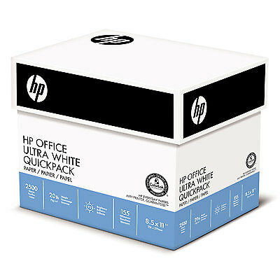 HP Office Ultra-White Paper 92 Bright 20lb 8-1/2 x 11 500/Ream 5/Carton 112103