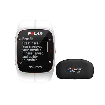 Polar M400 Sports Watch With GPS And Heart Rate Monitor - White