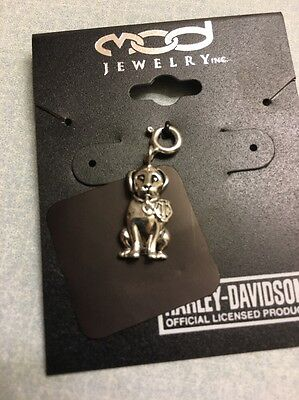 NEW Harley-Davidson MOD Sterling Silver Heavy DOG Rare! Dangle B&S Charm