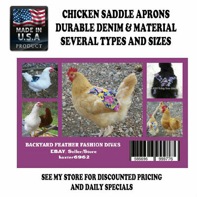 10 Chicken Saddle Apron Hen Jacket BACK PROTECTION CHICKEN HATCHING EGGS POULTRY