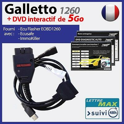 Galletto 1260 OBD OBD2 + DVD INTERACTIF de 5 Go