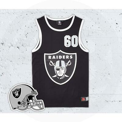Majestic Atheltic Oakland Raiders Nfl Quayside Mesh Vest A1Ora6018Blk001