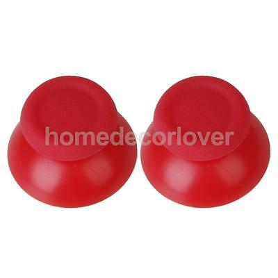 1 Pair of Joystick Thumbstick for PlayStation 4 PS4 Controller - Red