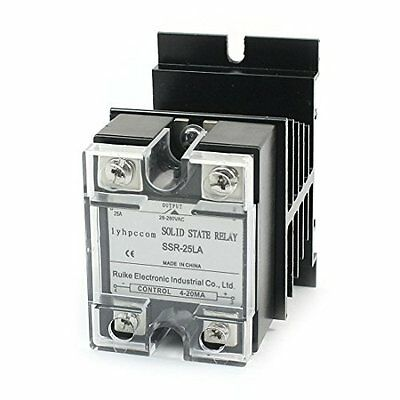4-20mA to AC28-280V 25A 1 Phase Solid State Relay w Aluminum Heat Sink