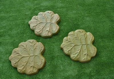 2 pcs Leafs Molds Stepping Stone Concrete Mould for garden path #S09