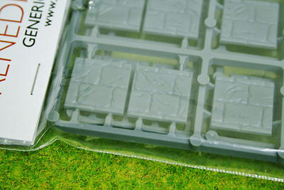 WARGAMING WAR GAMES RENEDRA PAVED EFFECT 20mm SQUARE BASES Pack