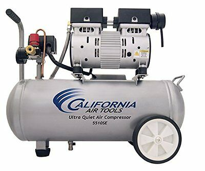 California Air Tools 5510SE Ultra Quiet and Oil-Free 1.0-HP 5.5-Gallon Steel