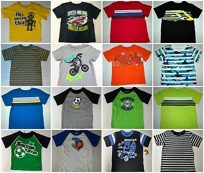 Baby Toddler Boys Short Sleeve T-Shirt Striped, Graphics 12 18 24 Month 3T 4T 5T