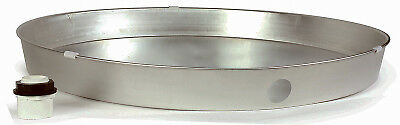 Camco Mfg 20810 Water Heater Pan With Fitting, Aluminum, 26 x 2.25-In.