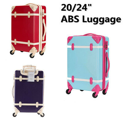 Wheeled Suitcase ABS Expandable Carry On Luggage Travel Bag Tote Trolley Spinner