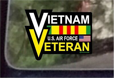 American Flag Vietnam Veteran Eagle Decal Sticker One ProSticker 904V