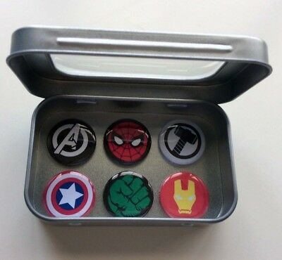Marvel Comic Hero Magnet Gift Set With Gift Tin (Includes Spiderman, Iron Man)
