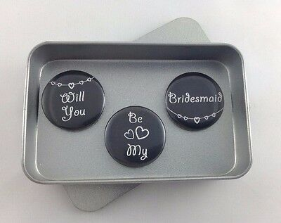 Wedding 'Will You Be My Bridesmaid' Magnet Gift Set
