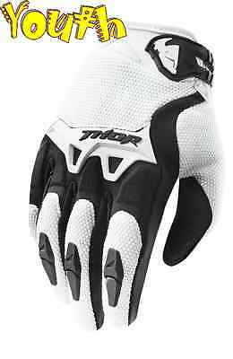 Thor Spectrum Glove Youth White Motocross Enduro Small to Large