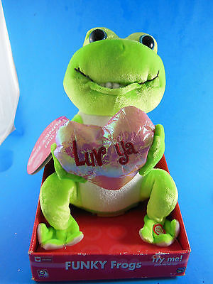 Gemmy Funky Frogs LUV YA Animated Frog Sings HARD TO HANDLE New in Packaging