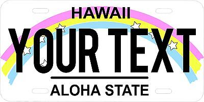 Hawaii State Custom Personalized License Plate  Aluminum 6 X 12 auto tag