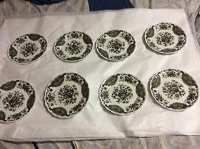 EXCELLENT CONDITION Set of 8 Ridgway Staffordshire Windsor England Bread Plates
