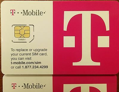 T-Mobile 4G LTE FACTORY MICRO Sim Card. for iPhone 4/4s,GalaxyS3/S4, NEW TMOBILE