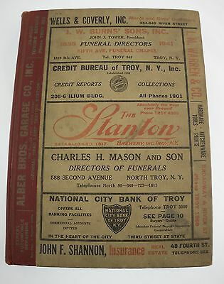 1941 Polks Troy New York NY City Directory Waterford Watervliet Cohoes