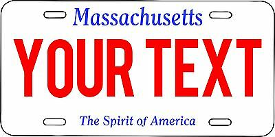 Massachusetts Custom Personalized License Plate  Aluminum 6 X 12 auto tag