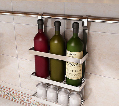 HLC Hanging Stainless Steel Wine Bottle Cups Holder Home Kitchen Dining Room
