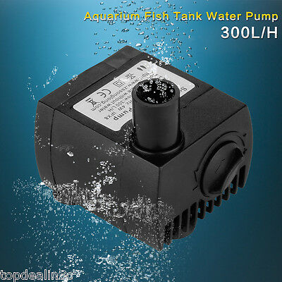 300 L/H Submersible Aquarium Fish Tank Marine Fountain Water Pump Adjustable AU