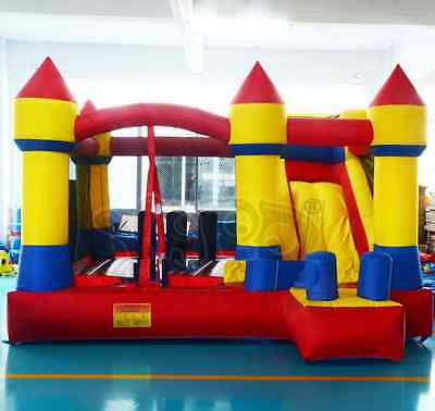 Inflatable bouncy castle bounce house with slide for kids