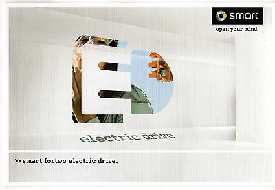 Smart ForTwo Electric Drive 2010 Export Market Sales Brochure In English