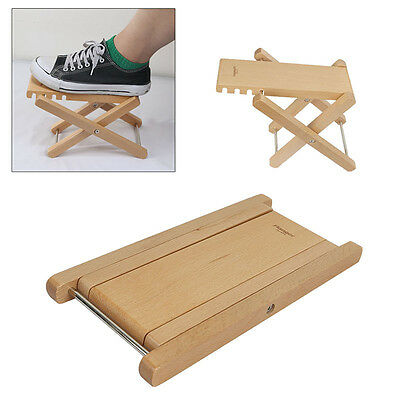 Durable Wood Classic Guitar Pedal Foot Rest Stool Practice 4 Adjustable Height